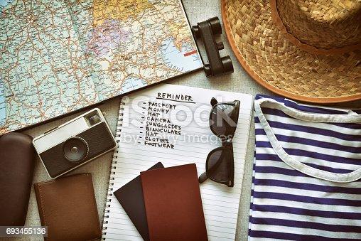 istock Travel accessories 693455136