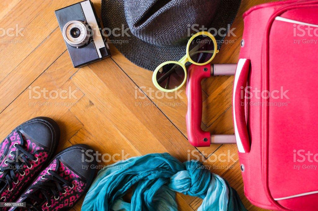 Travel addict stock photo