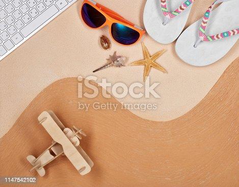 istock Travel agency. 1147542102