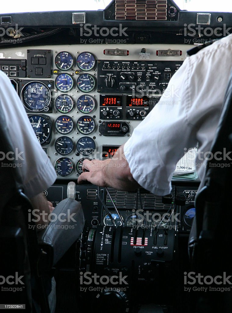 Travel Airplane Cockpit royalty-free stock photo