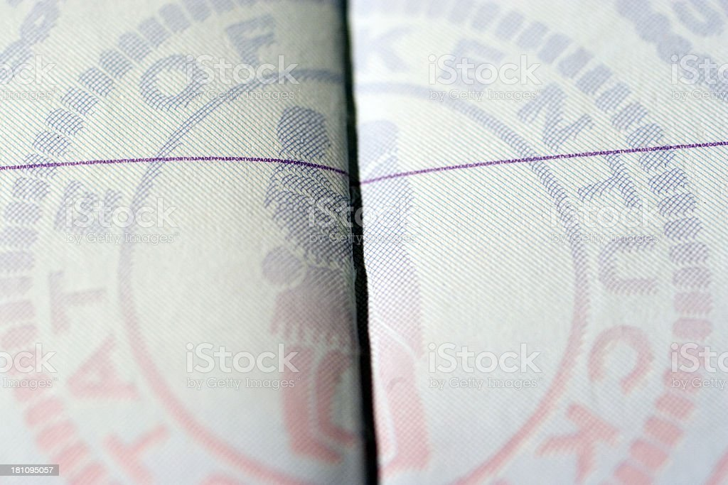 Travel: American Passport Page royalty-free stock photo