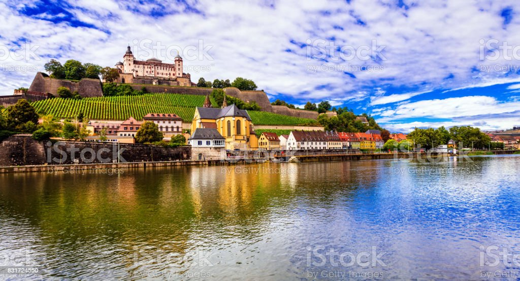 Travel and landmraks of Germany - beautiful Wurzburg town stock photo