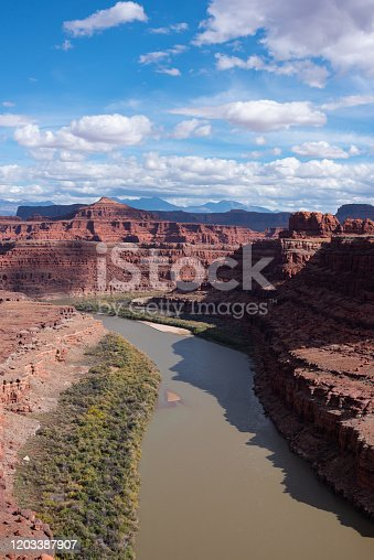 Travel and Tourism cenes from the Western United States. Red Rock Formations And Dramatic Landscapes Near Moab Utah.
