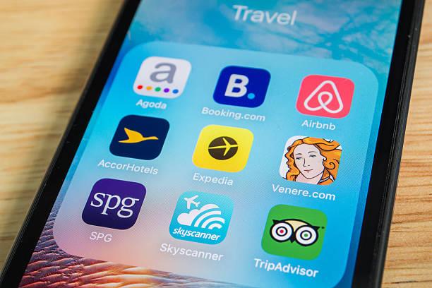 Aplicaciones de viajes - foto de stock