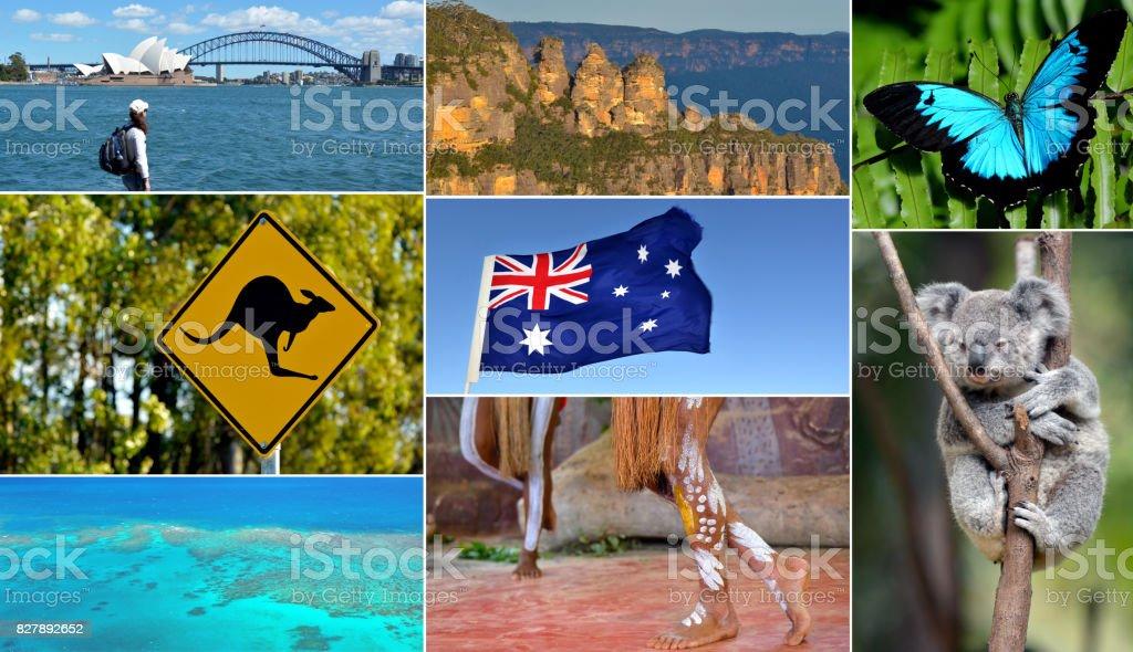 Travel Australia postcard stock photo