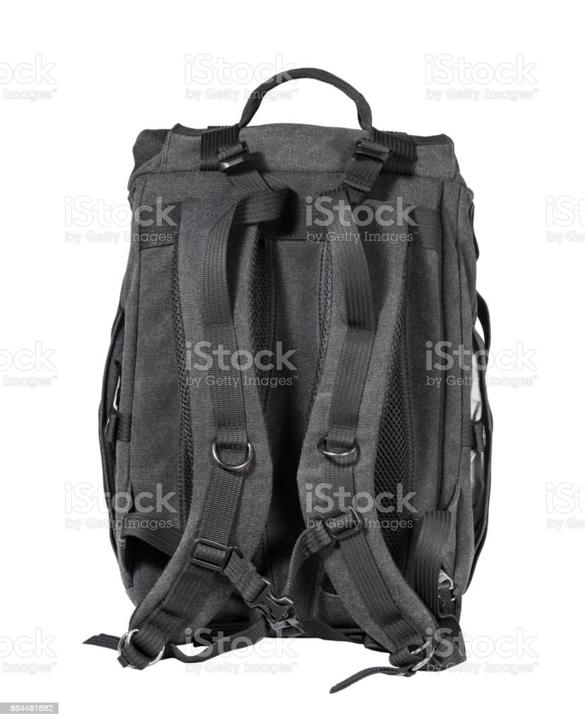 Travel backpack isolated on a white background stock photo