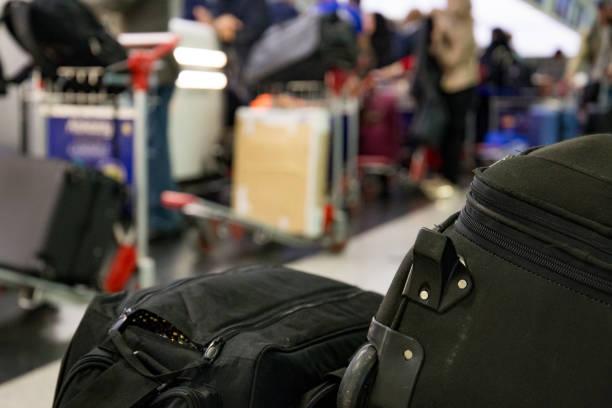 Travel baggage stock photo