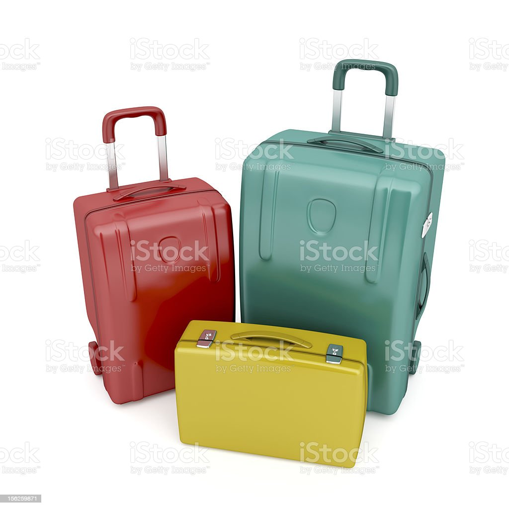 Travel bags and briefcase royalty-free stock photo
