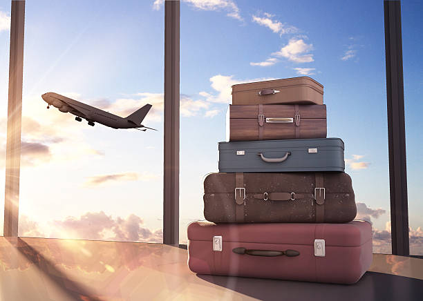 travel bags - luggage stock photos and pictures