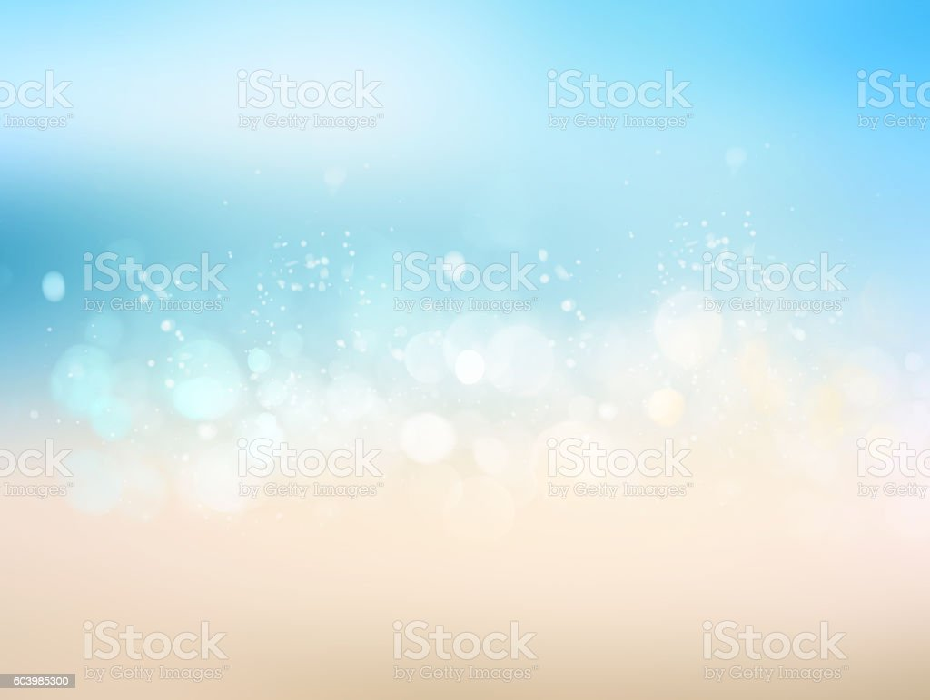 Travel beach blurred abstract illustration background. stock photo