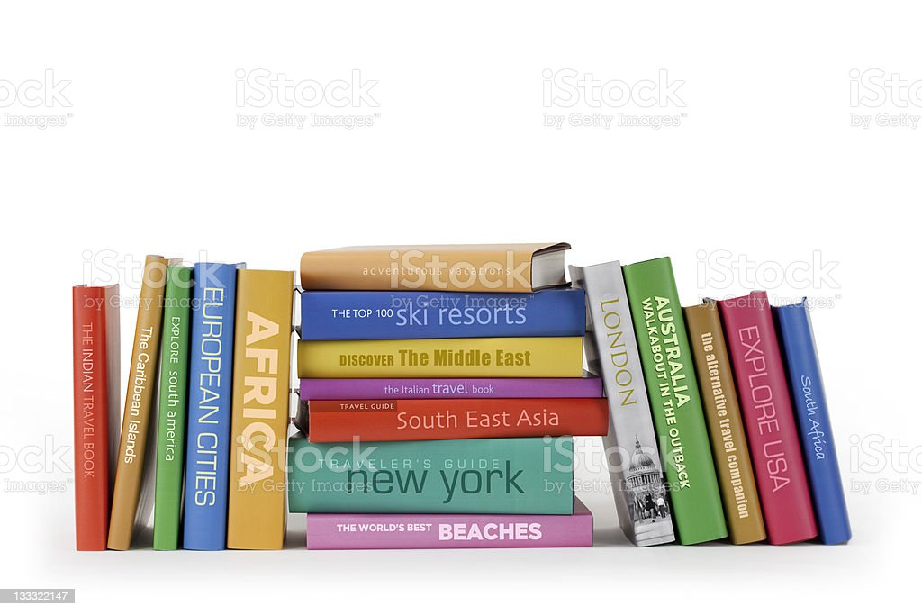 Travel books royalty-free stock photo