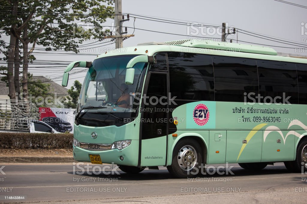 Travel bus of Easy Transport. Photo at road no 121 about 8 km from...
