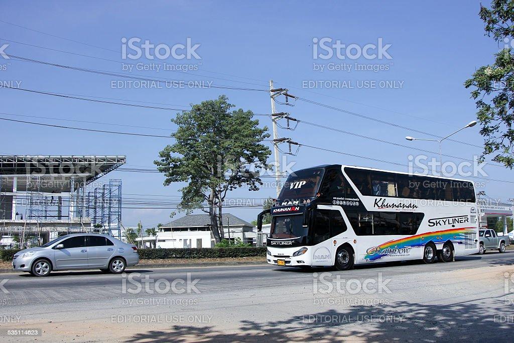 Travel bus of Khunanan Transport. Photo at road no 1001 about 8 km...