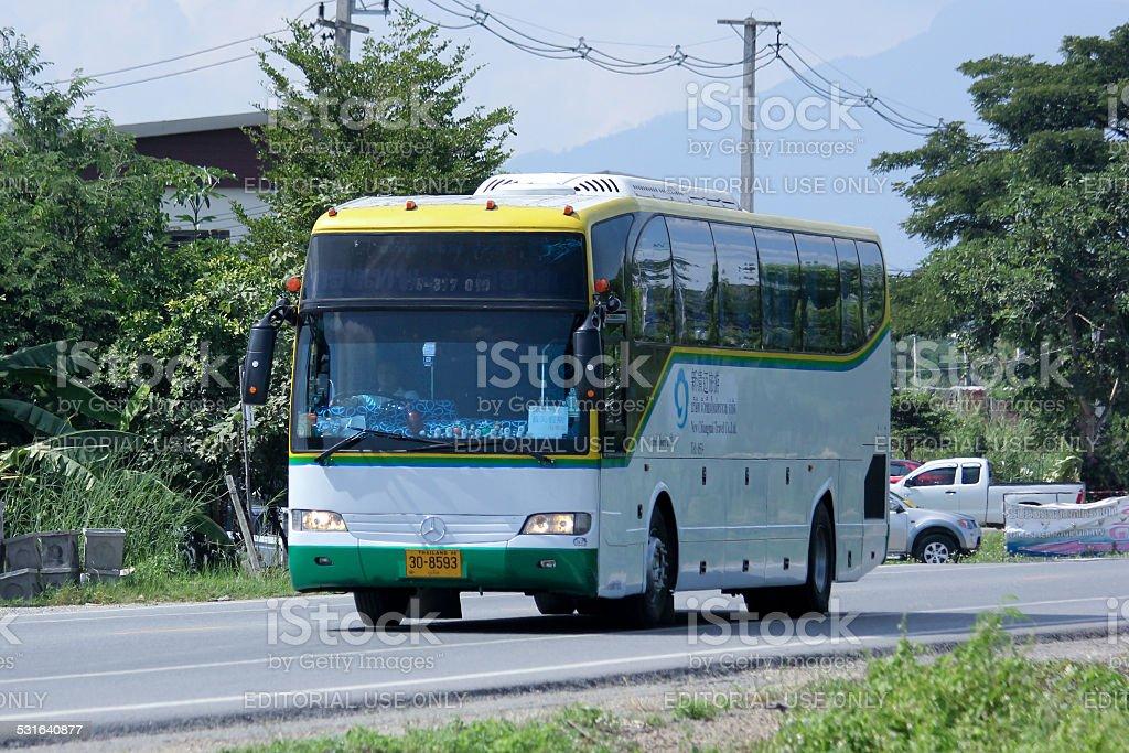 Travel bus of New Chiangmai Travel Company. Photo at road no 121...