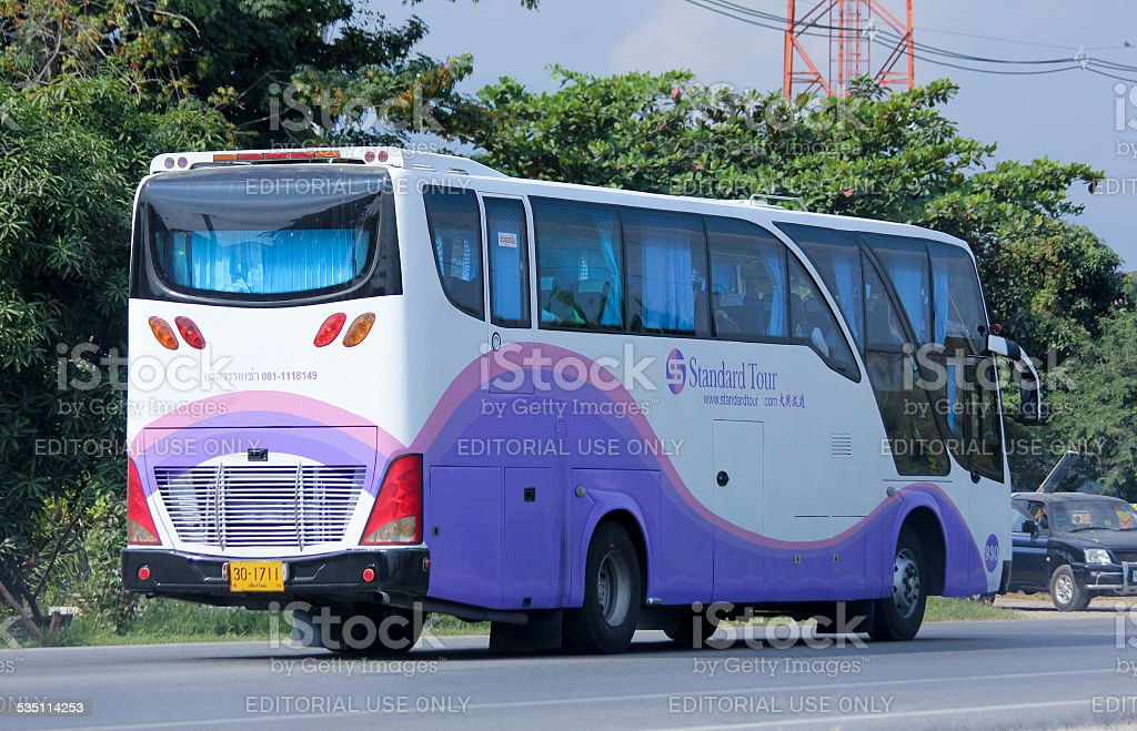 Travel bus of Standard tour. Photo at road no 121 about 8 km from...