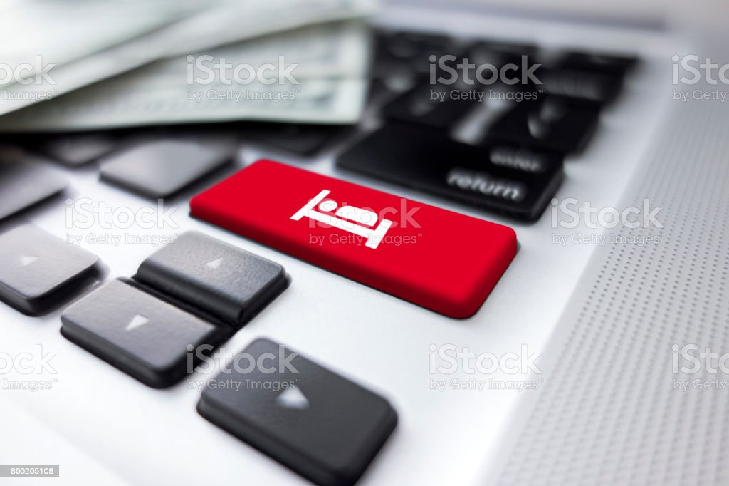 Travel buttons stock photo