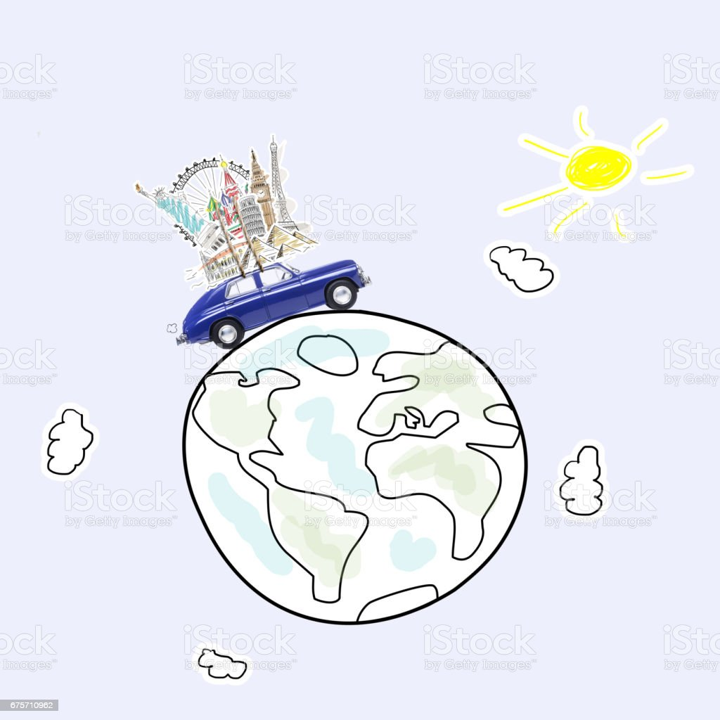 Travel by car 免版稅 stock photo