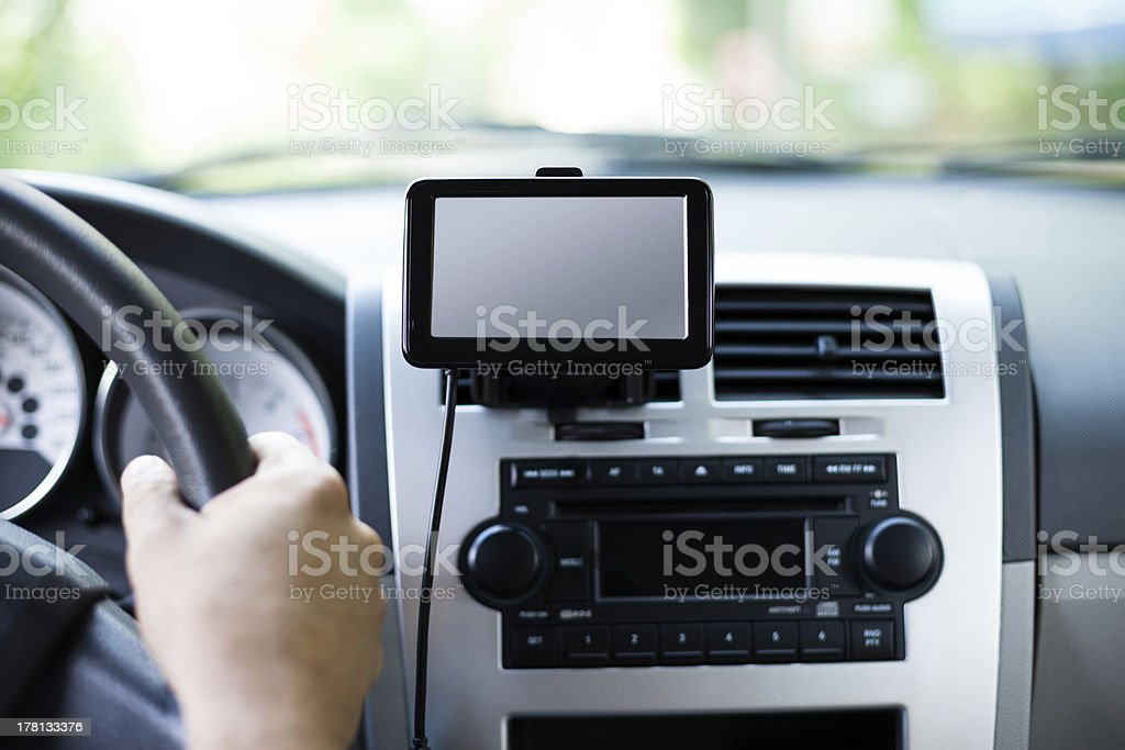 Travel by car with gps royalty-free stock photo
