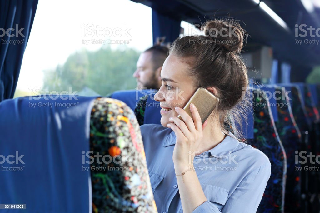 Viaje en autocar. - foto de stock