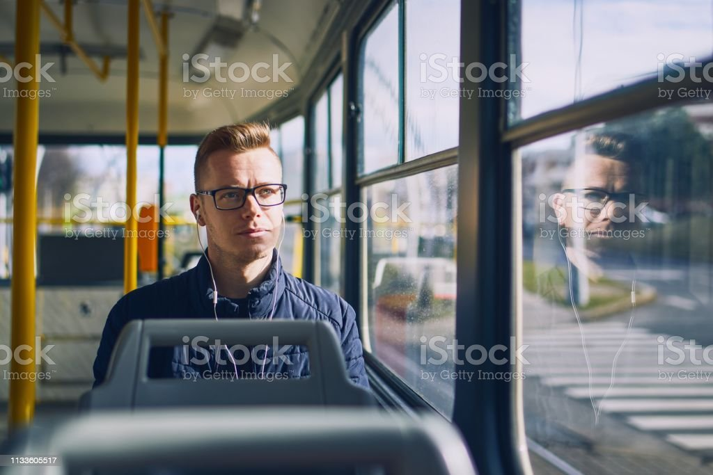 Travel by public transportation stock photo
