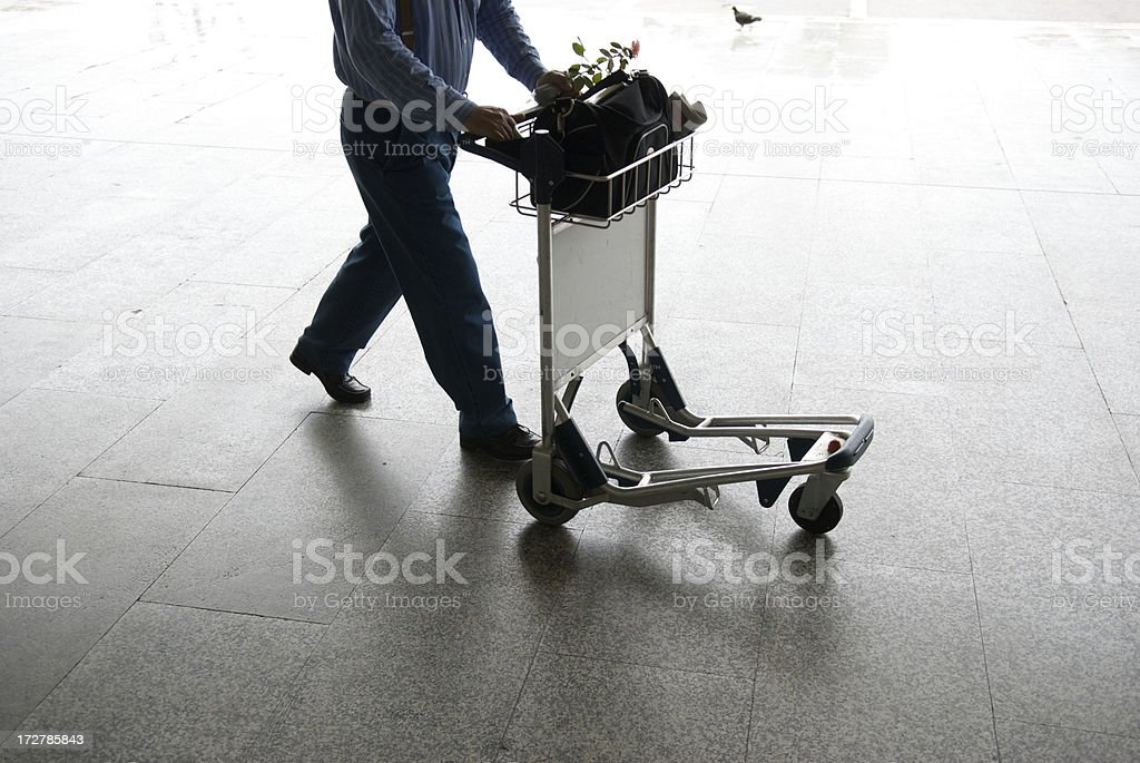 Travel Cart Silhouette royalty-free stock photo