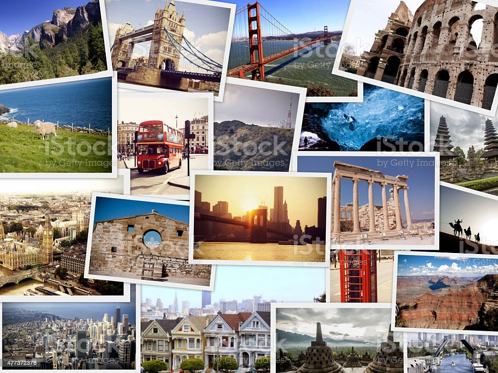 Travel Collage - World images stock photo