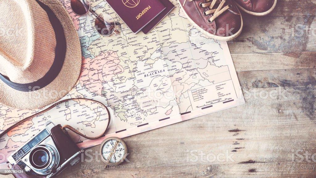 Travel Concept erhöhte Ansicht – Foto
