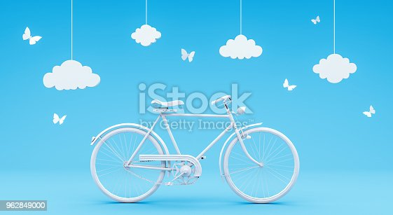 istock travel concept on blue background 3D rendering 962849000
