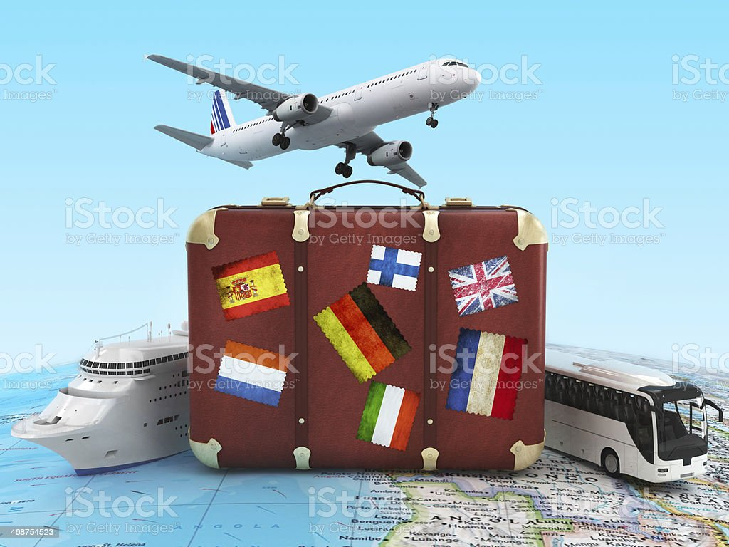 travel condept - Royalty-free Airplane Stock Photo