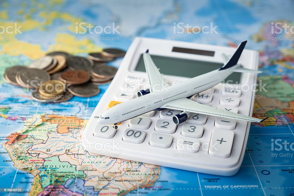Travel cost royalty-free stock photo