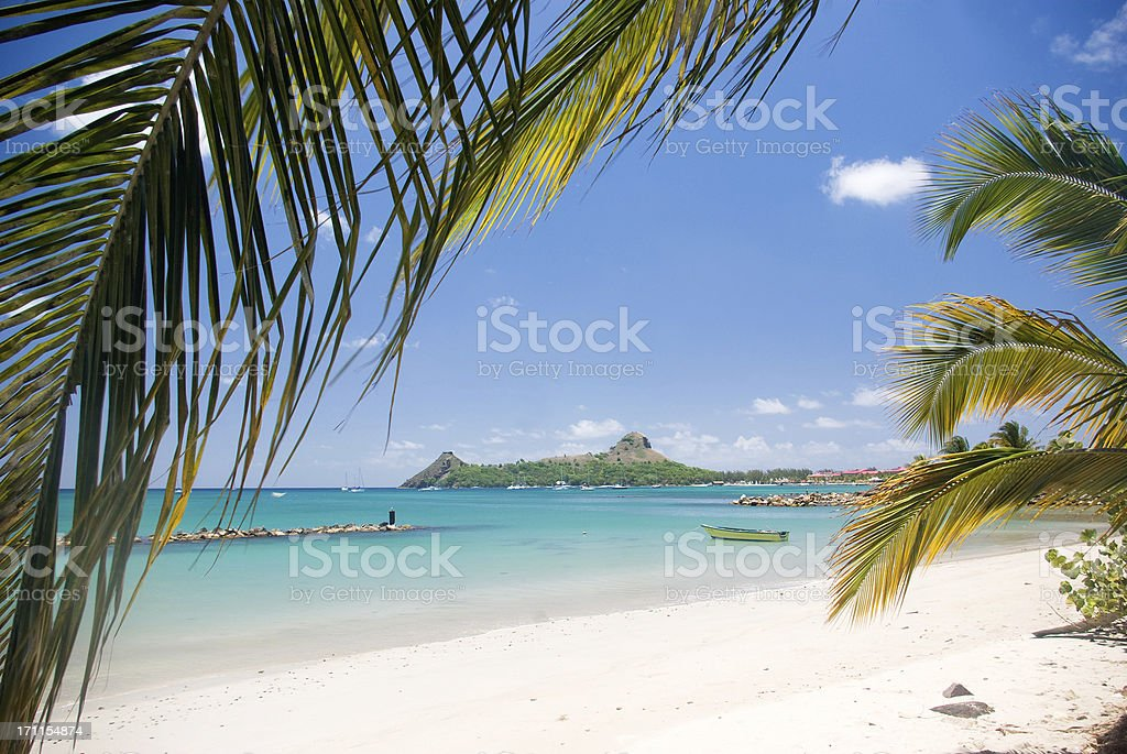 travel destination - Pigeon Island St Lucia stock photo