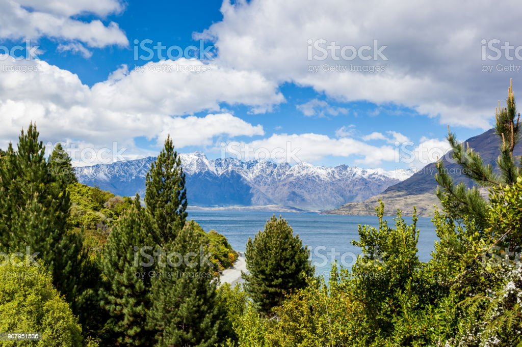 Travel destination - Remarkables, Queensland, New Zealand stock photo