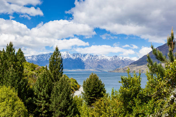 Travel destination - Remarkables, Queensland, New Zealand stock photo