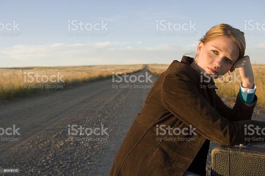 Travel / Dirt Road / Waiting royalty-free stock photo