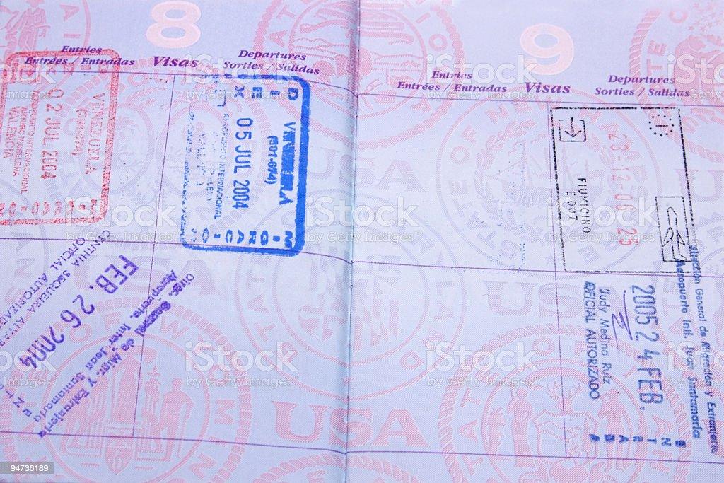 Travel Document royalty-free stock photo