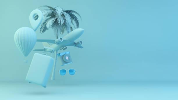 Travel elements concept stock photo