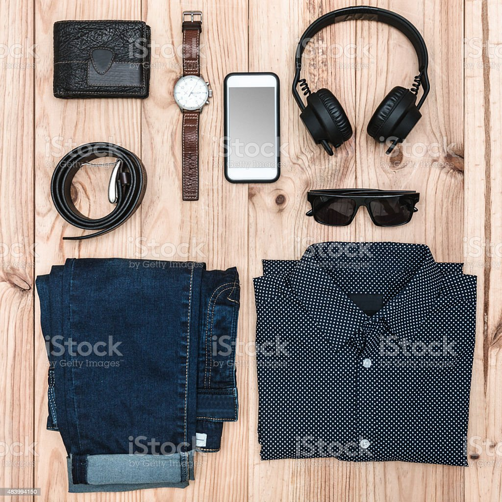 travel essentials concept image stock photo
