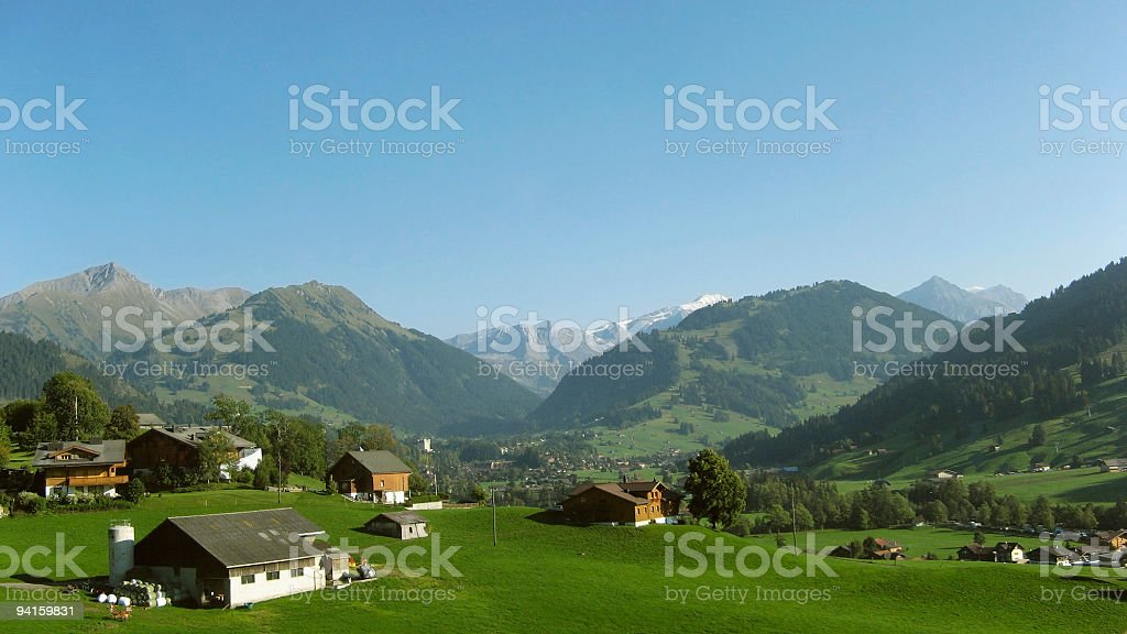 Travel Europe; Alpine agriculture royalty-free stock photo