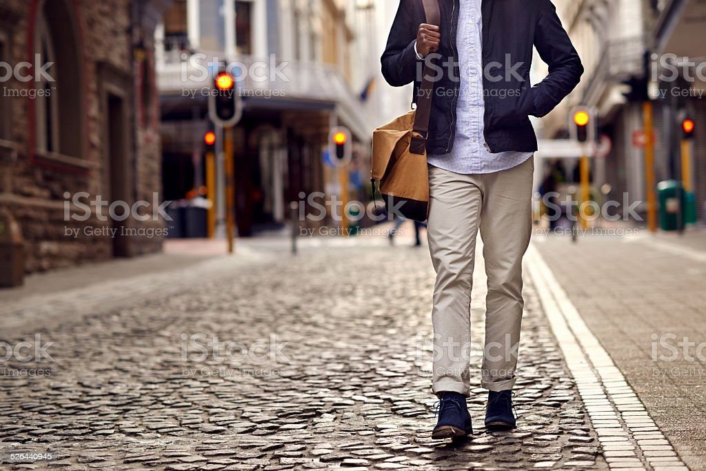 Travel Europe man stock photo