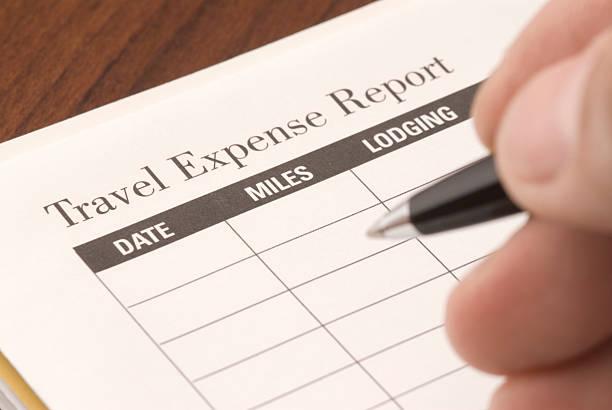 Travel Expense Report stock photo