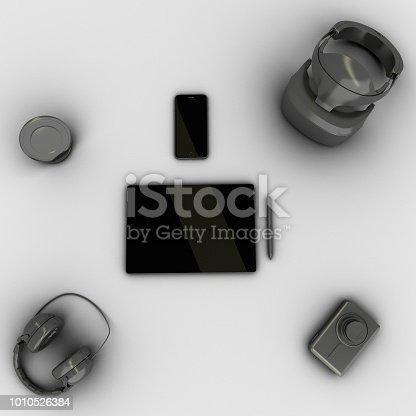 863497390 istock photo Travel gadgets flat lay travel concept 1010526384