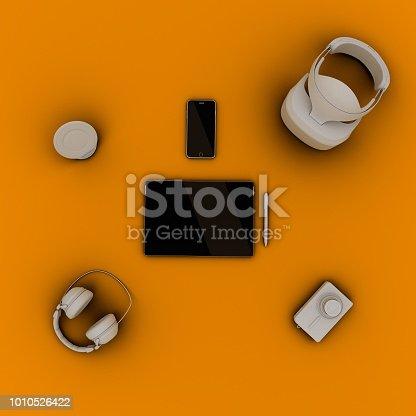 863497390 istock photo Travel gadgets flat lay travel concept 1010526422