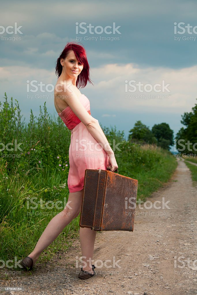 Travel girl royalty-free stock photo