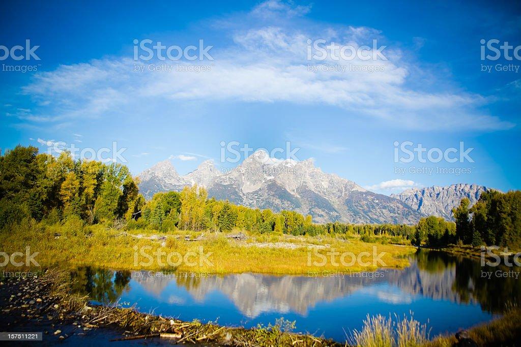 Travel Grand Tetons National Park royalty-free stock photo