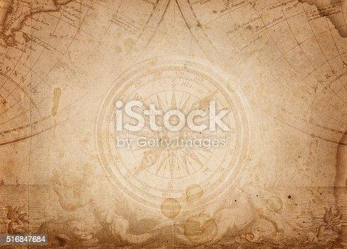 Pirate and nautical theme grunge background