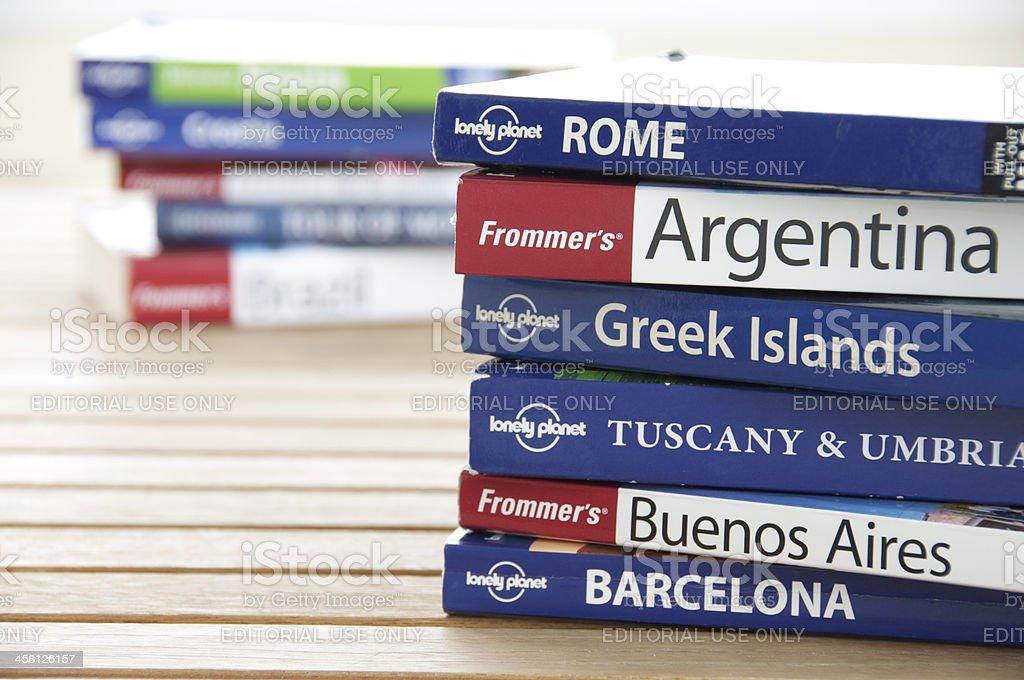 Travel Guide Books stock photo