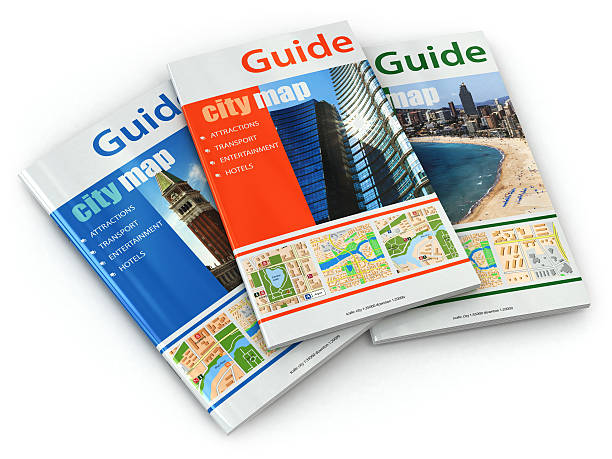Travel guide books. stock photo