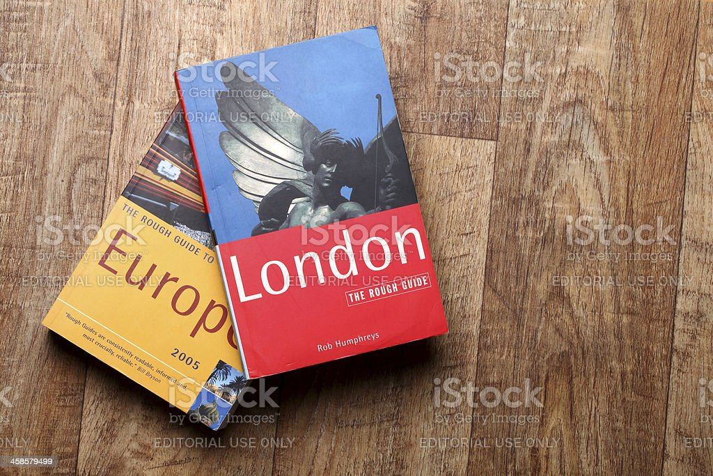 Travel guide - London and Europe stock photo
