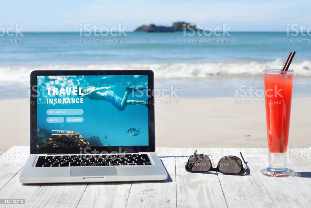 travel health insurance for active sports stock photo