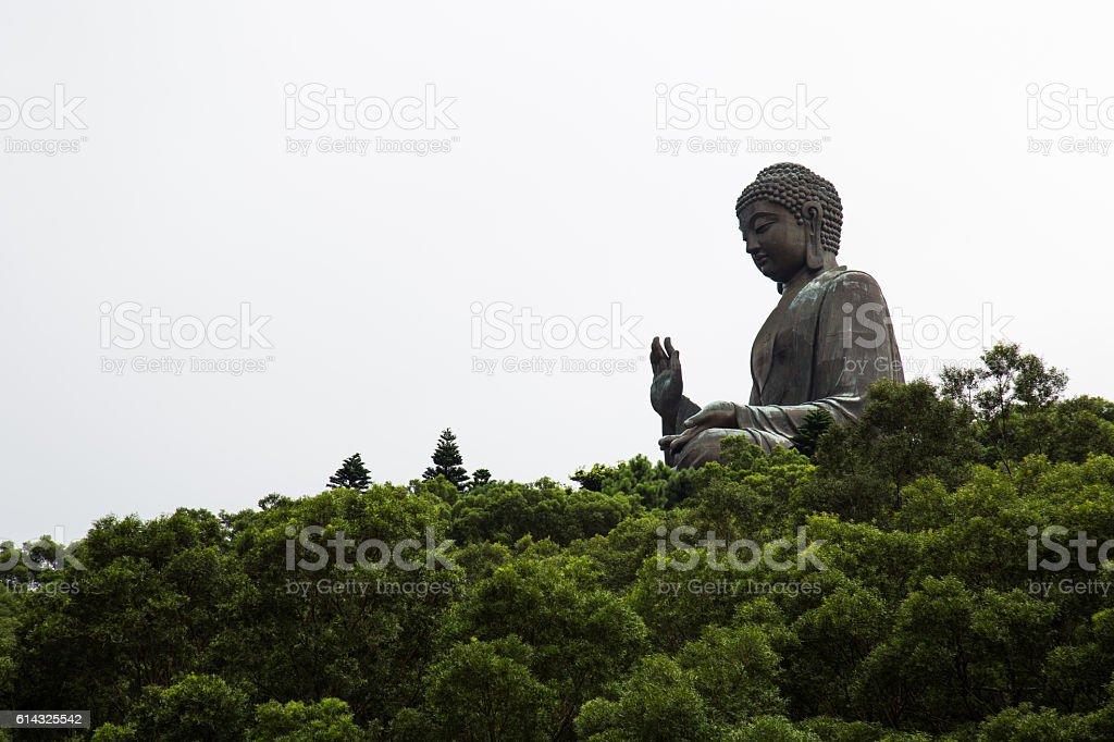 Travel Hong Kong island Tian Tan Buddha stock photo
